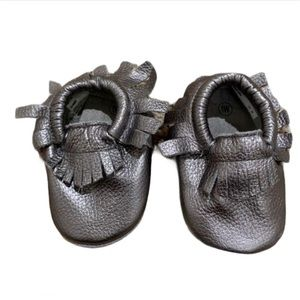 🆕 Teeny Toes Leather Moccasins - Baby Size 1
